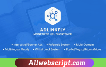 AdLinkFly 6.3.0 Nulled | Monetized URL Shortener | AdLinkFly Latast Version